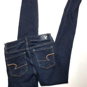 American Eagle dark wash jegging skinny jeans